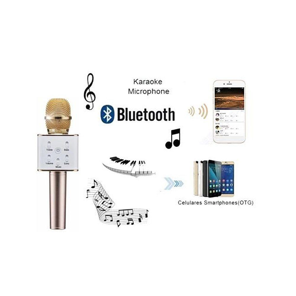 Urbun Q7 Wireless Bluetooth Microphone Portable KTV Karaoke Stereo