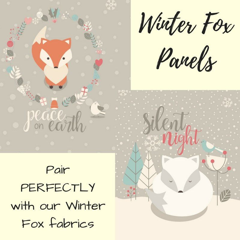 a501b3f61c5 PREORDER BWD Exclusive - Winter Fox Panels on Cotton Spandex Jersey Knit  Fabric