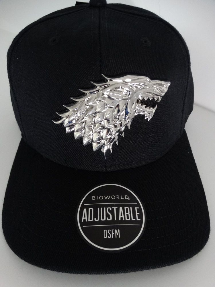 8dec326653baa Game of Thrones House Stark Metal Badge Snap Back Hat Nwt
