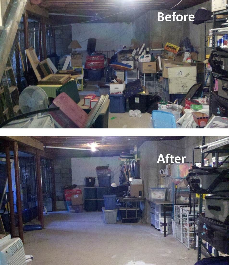 Basement Organizing Project From So Squared Away This Basement Got Out Of Hand Little By
