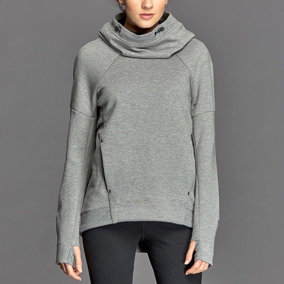 Nike Women S Tech Pullover Fleece Hoodie Grey Small 789534 091 Nike Hoodie Nike Women Sweatshirt Tech Fleece Hoodie Fleece Hoodie [ 960 x 960 Pixel ]