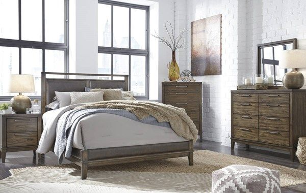zilmar contemporary brown walnut solid wood pu master bedroom set rh pinterest com