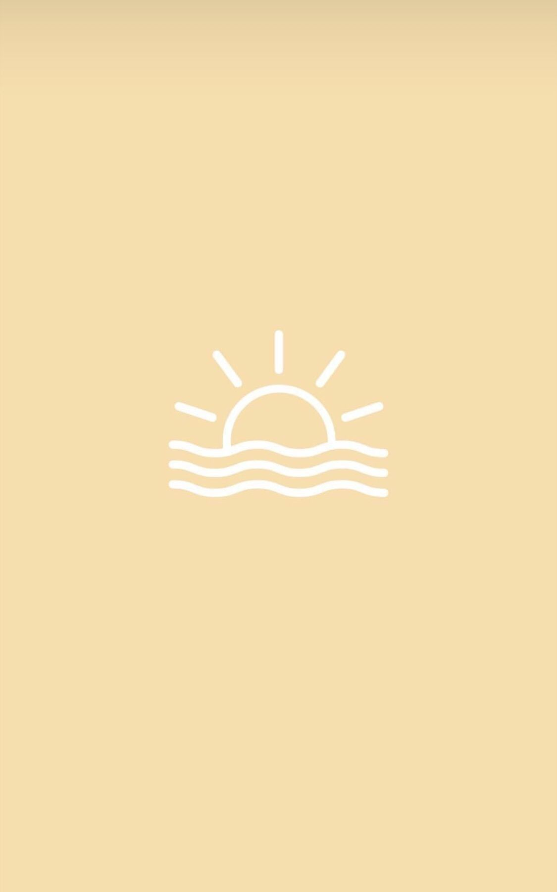 Wallpaper Yellow White Simple Sunset Sea Sun Symbols Iphone Wallpaper Vsco Apple Watch Wallpaper Simple Wallpapers