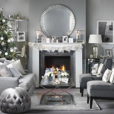 53 wonderfully modern christmas decorated living rooms christmas rh pinterest com