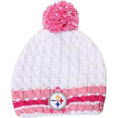 New Era Pittsburgh Steelers Ladies 2013 BCA On-Field Knit Beanie - White  Pink ab1d5b52a