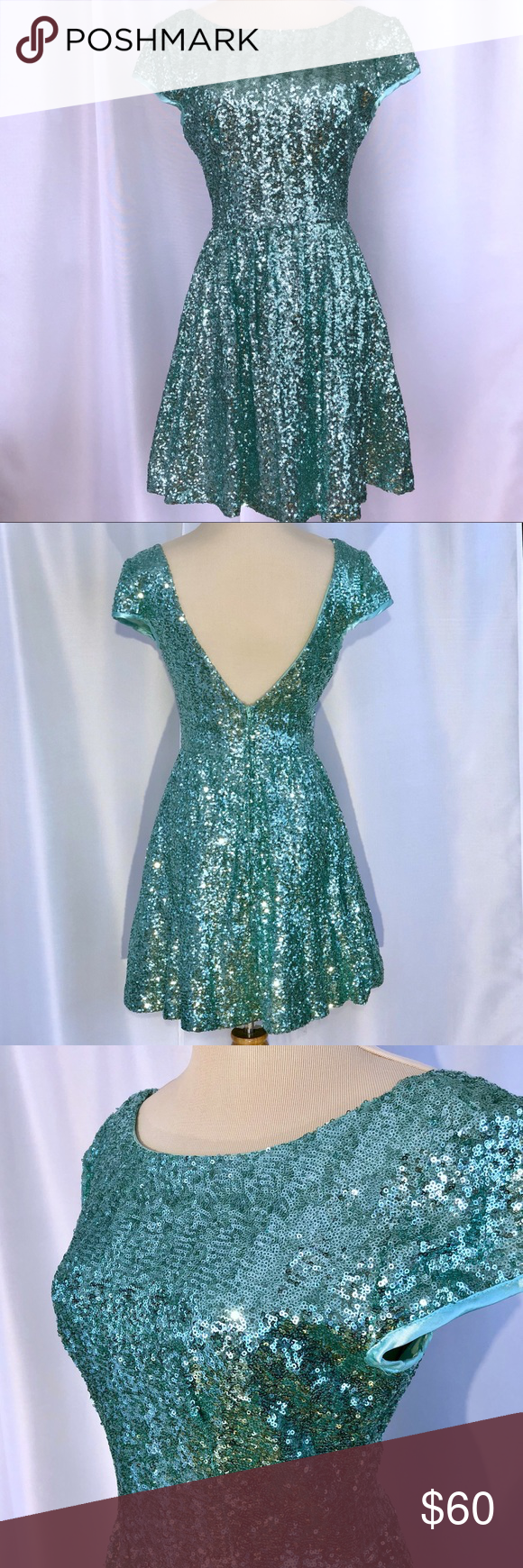 eb88a9ef6765 Mint Green Sequin Formal Prom Homecoming Dress Like New Windsor Dress  Boutique Mint Green Sequin Dress Perfect for Formal, Prom, or Homecoming  Size 5/6 see ...