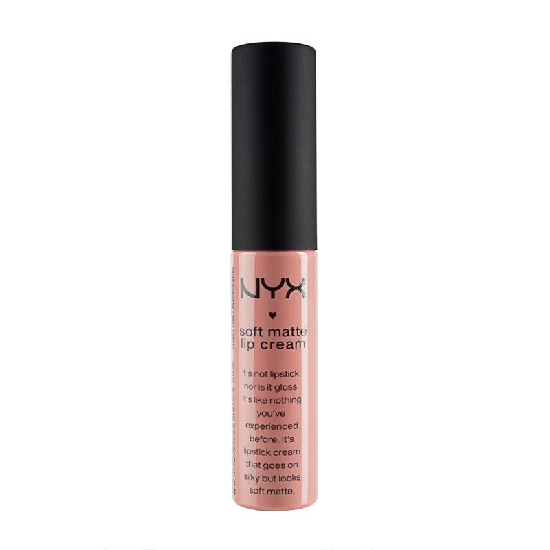 Neither lipstick nor lip gloss, NYX Soft Matte Lip Cream is a new kind of lip colour that goes on silky smooth and sets to a matte finish. NYX Soft Matte Lip Cream is surprisingly durable and unlike...