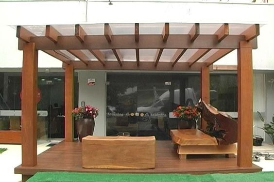 Ideas de pergolas y techos para tu patio dise o de - Techos para porches ...
