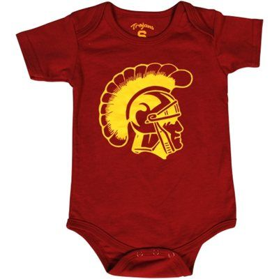 USC Trojans Infant Trojan Head Creeper - Cardinal