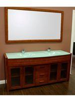 72 waterfall double sink vanity honey oak glass bath vanities rh pinterest com