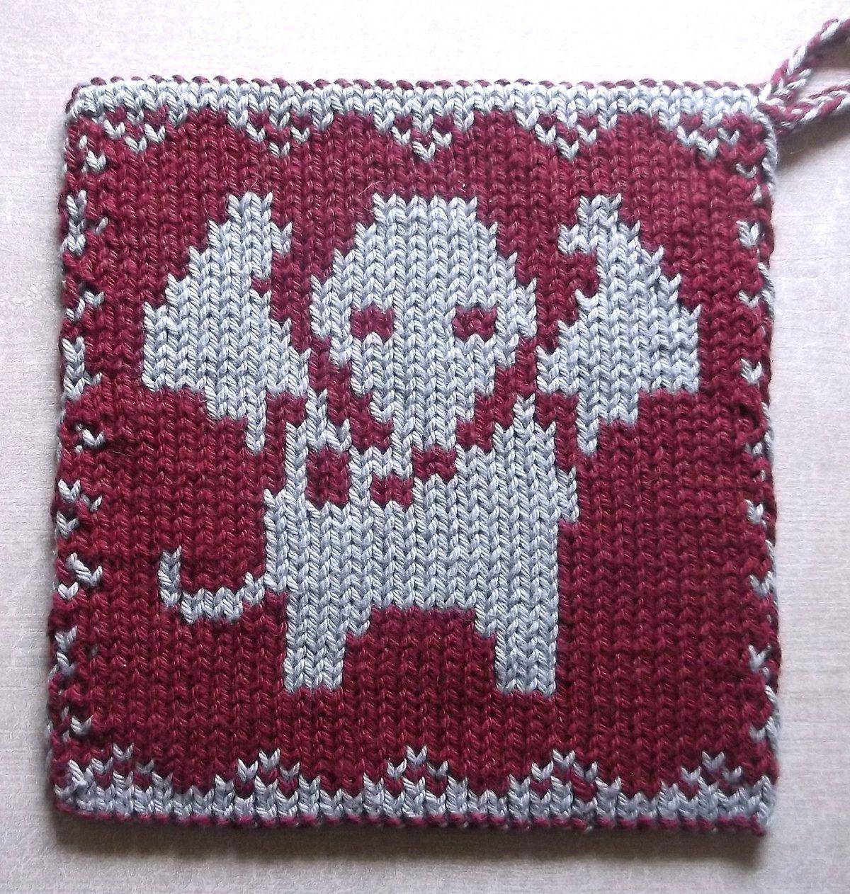 Free knitting pattern for elephant pot holder double knit free knitting pattern for elephant pot holder double knit reversible design with elephant motif that bankloansurffo Images