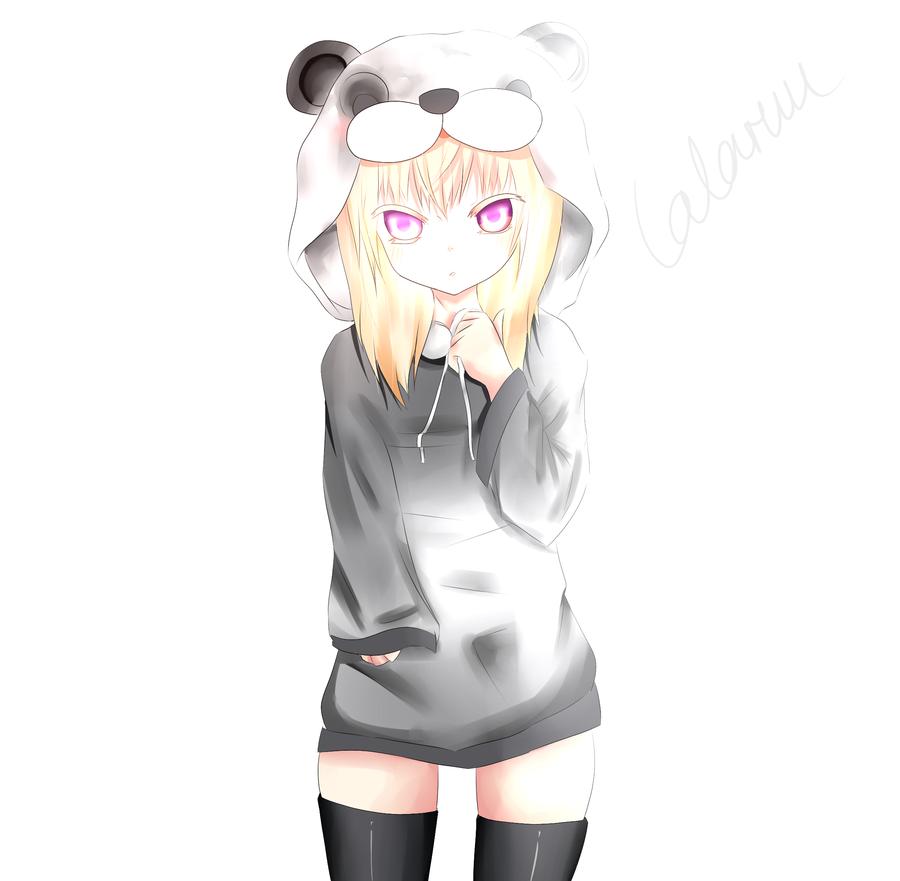Panda Girl By Lalaruu On Deviantart Cute Panda Panda Wallpapers Panda Art