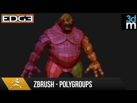Zbrush Tutorial Polygroups For Beginners Hd By 3dmotive
