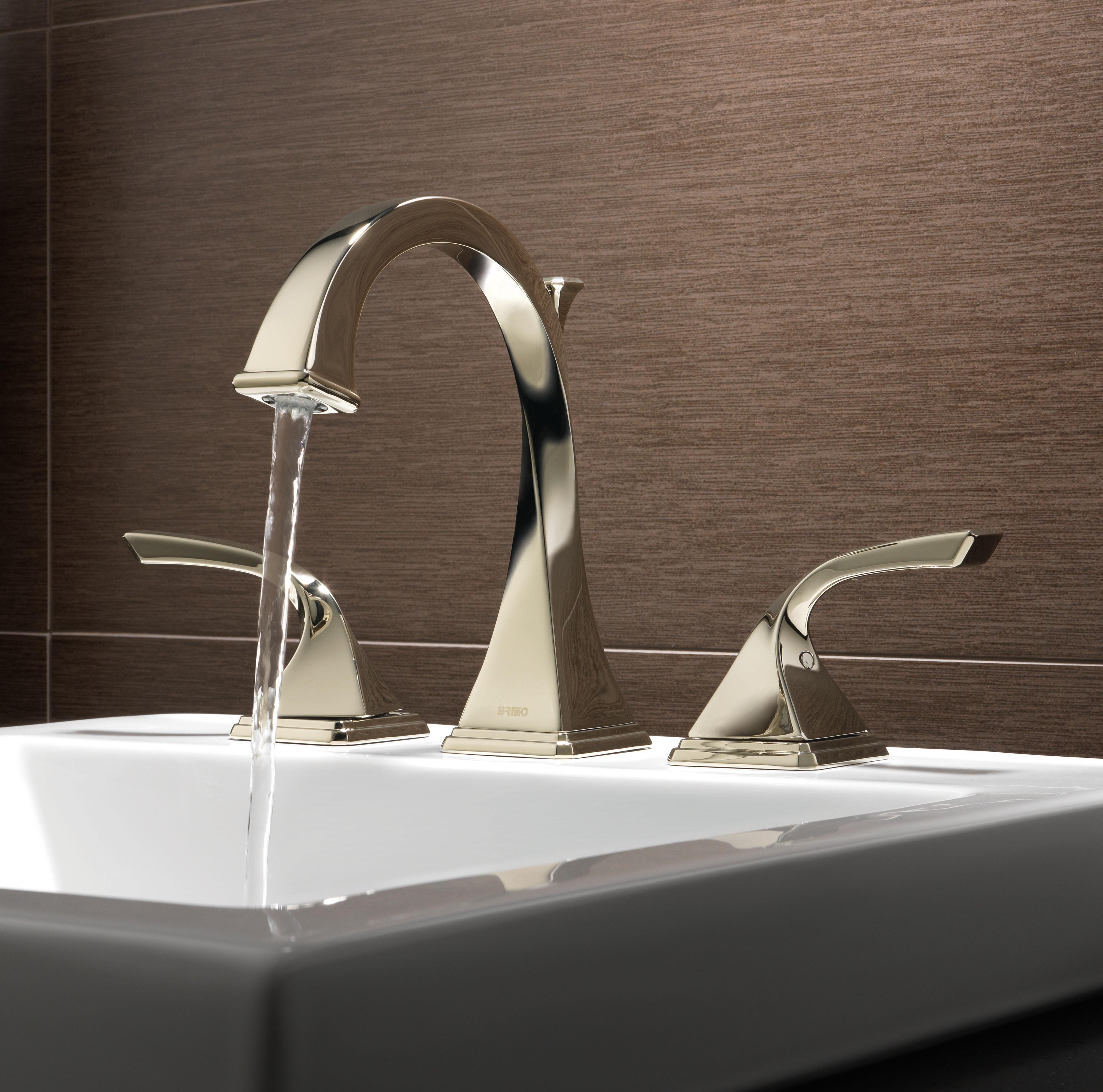 Love The Tile Backsplash Too Brizo Virage Bathroom Faucets Modenus Catalog Bathroom Faucets Widespread Bathroom Faucet Bathroom Faucets Brushed Nickel
