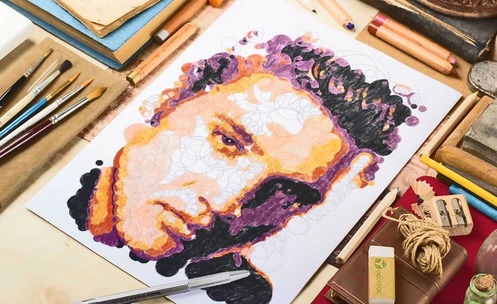 Querkles Is A Color By Numbers Book For Adults Hobbies Paint By