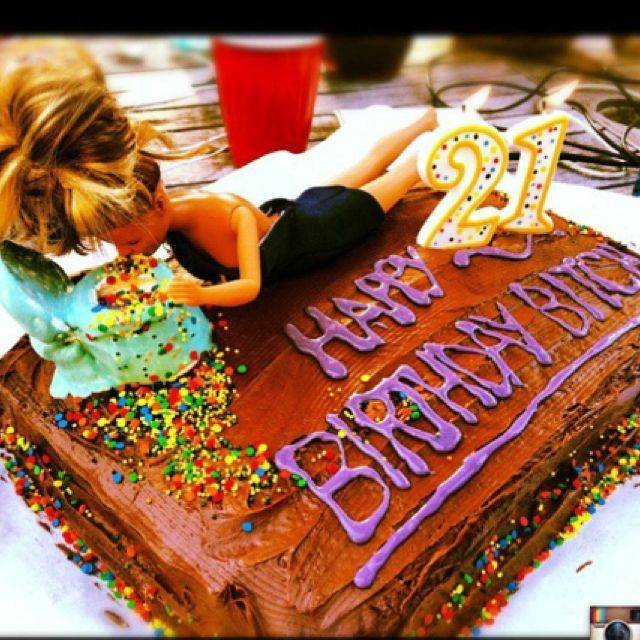 Somebody Better Make Me A Drunk Barbie Cake For My