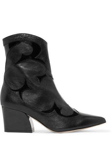 0671d28b9d4 Tibi - Felix patent-trimmed leather ankle boots   boots.....made for ...