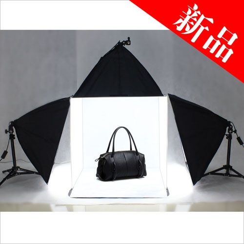 Photo Studio Light Tent Cube Soft Lighting Backdrop Kit 60cm 3pcs
