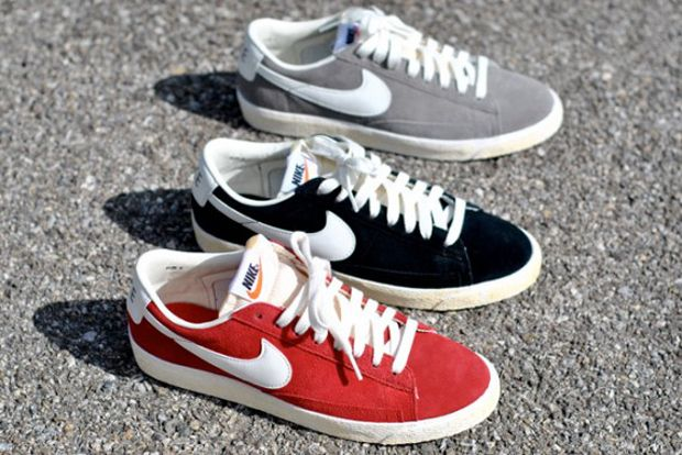red nike blazer low