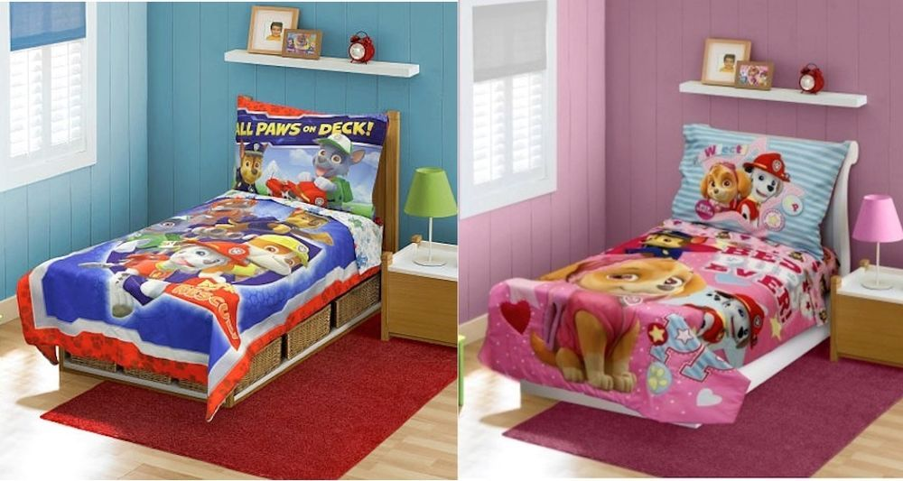 details about new girls boys paw patrol 4 piece toddler bedding rh pinterest com