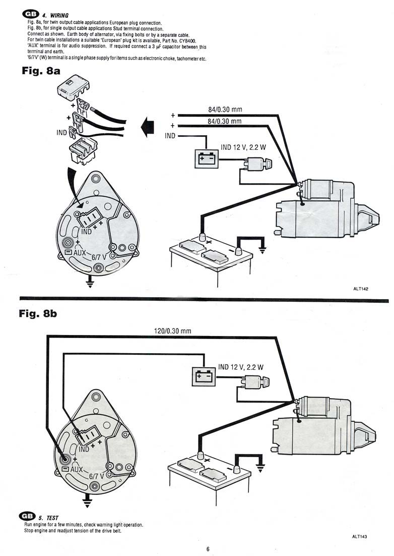 Alternator Charge Light Wiring Diagram