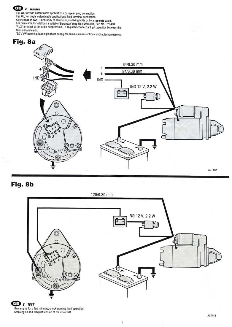 alternator charge light wiring diagram Google Search