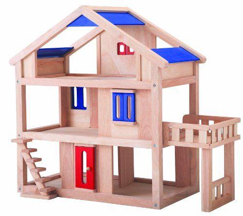 plan toys dollhouse series organic wooden terrace dollhouse - Wooden Dollhouses Designs