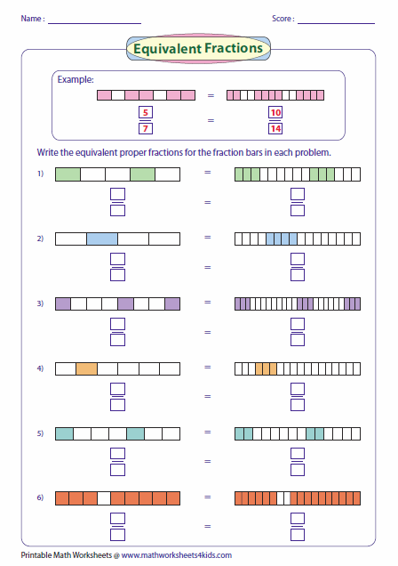 Writing Equivalent Fractions Using Fraction Bar Model  Education