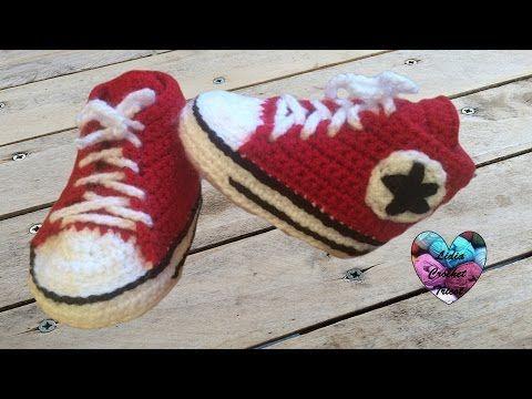 782e378aae637 Fabriquez ces magnifiques chaussons Converse pour bébé au crochet • Quebec  echantillons gratuits