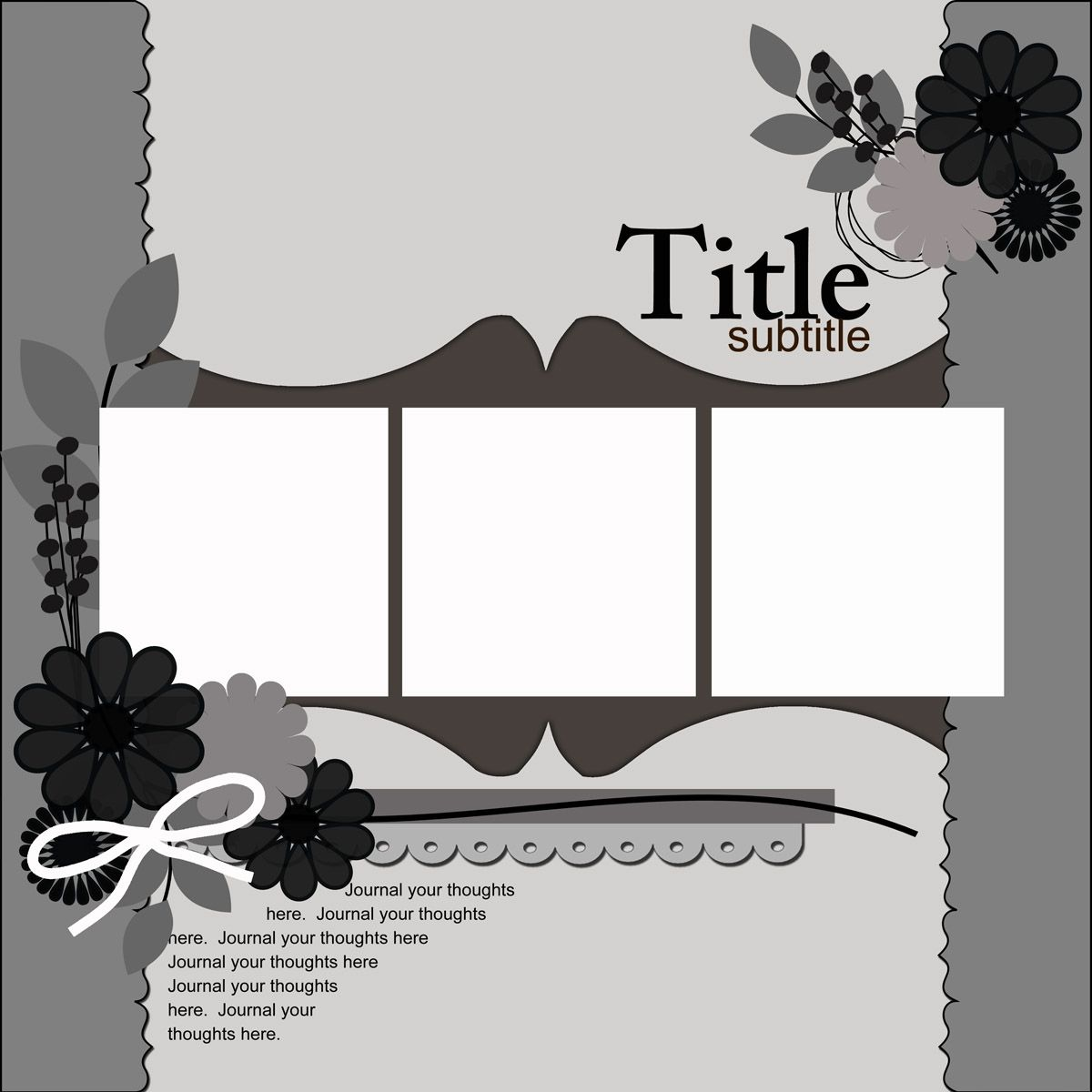 Ideas For Scrapbookers A New Template With Two Brackets And