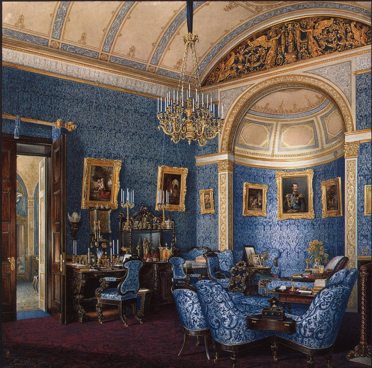 Winter Palace - Boudoir of Grand Princess Maria Alexandrovna / Russia