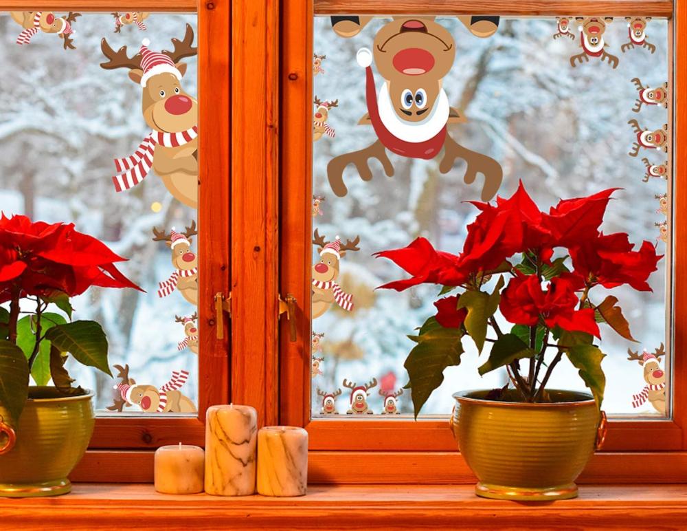 Lyworld Fensterbilder Fur Weihnachten Fensterbilder Winter Statisch Haftende Pvc Aufklebe Weihnachtsmann Susse E Fensterbilder Winter Weihnachtsmann Weihnachten