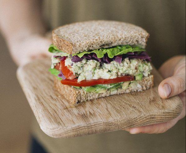 Chickpea Tuna Sandwiches