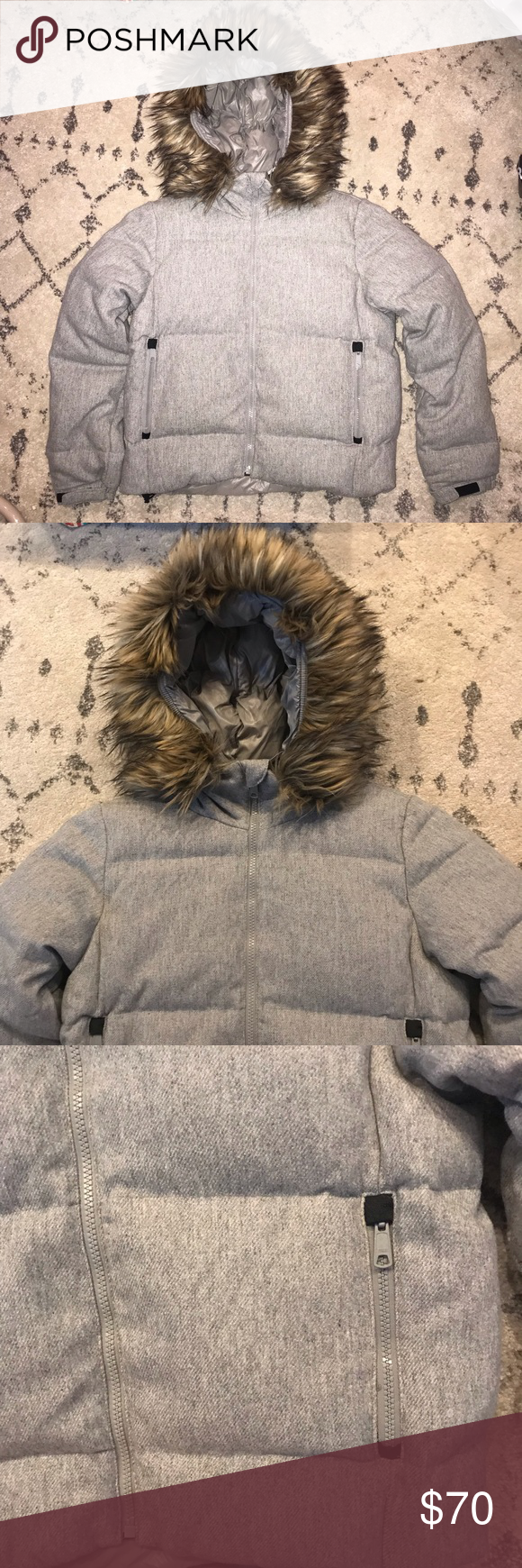 Gap Winter Warmth Outdoor Edition Puffer Jacket Faux Fur Hood Winter Warmth Gap Jacket [ 1740 x 580 Pixel ]