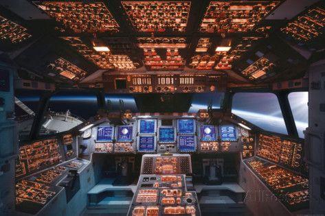 space shuttle cockpit poster - photo #8