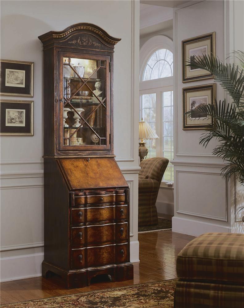 Seven Seas Secretary Desk W/Display Hutch By Hooker Furniture