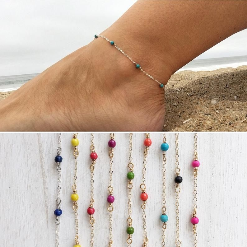 Photo of Dainty pearl necklace • Gold-filled anklet • Sterling silver anklet • Handmade pearl necklace • Layered jewelry