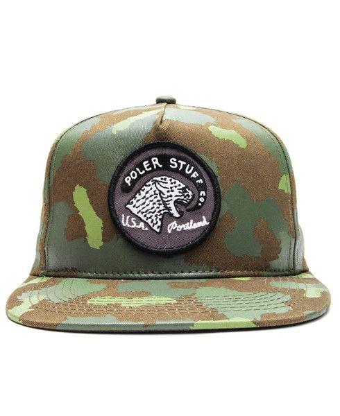 d09124778d312 POLER - TIGER EYE SNAPBACK CAP (GREEN CAMO)
