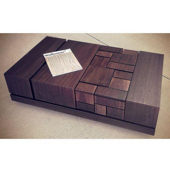 abaci 54 - walnut coffee table | mid century modern design, dark
