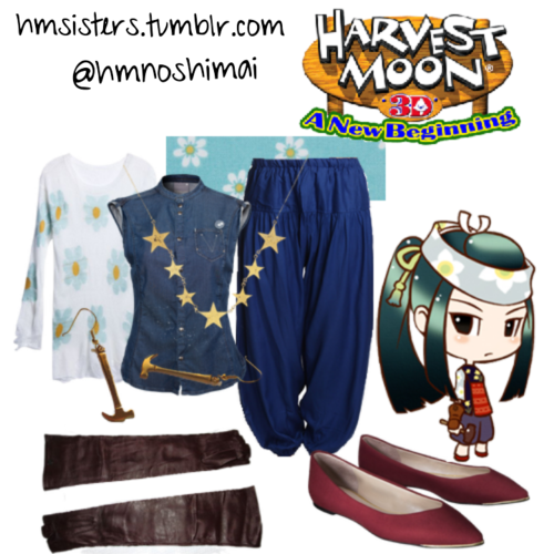 Harvest Moon A New Beginning Iroha On Polyvore By Hmsisters Harvest Moon Game Harvest Moon Cool Outfits