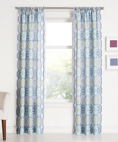 Another Great Find On Zulily Lapis No 918 Daphne Curtain Panel
