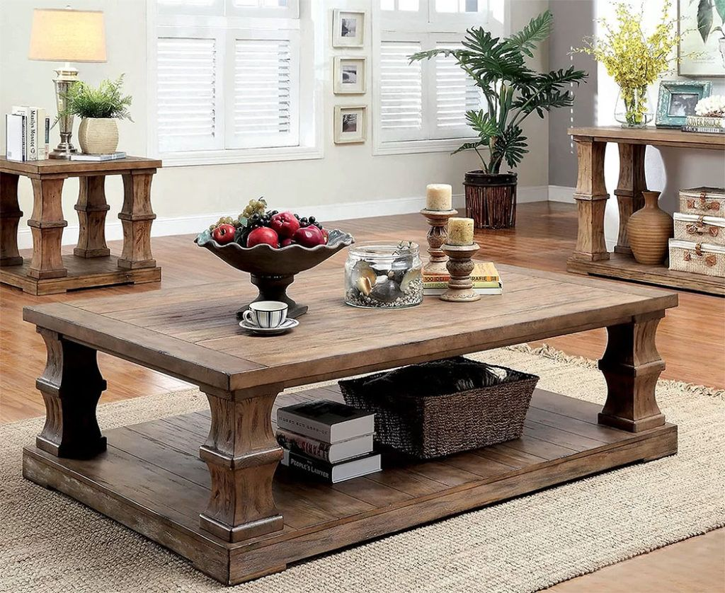 wood coffee tables solidly beautiful living room furniture rh pinterest com