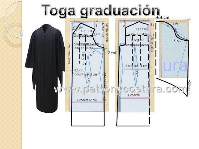 www.patronycostura.com/toga graducación y birrete | Sewing patterns ...