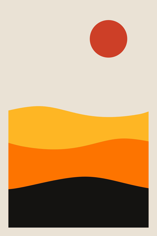 Modern Wall Art, Geometric Art, Abstract Print, Nordic Design ...