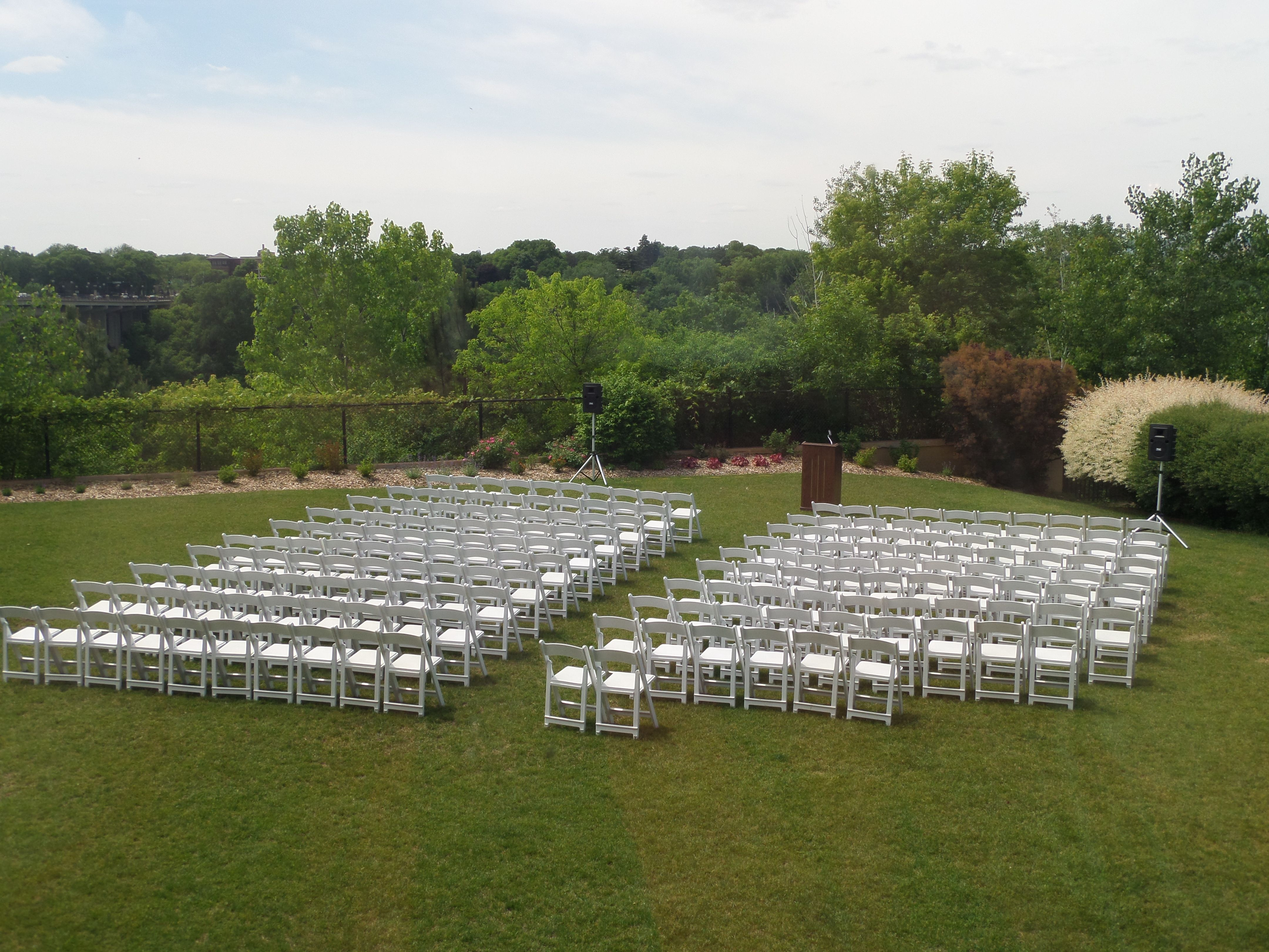outdoor wedding venues minneapolis%0A Outdoor wedding ceremony set up at Town  u     Country Club in St  Paul  MN