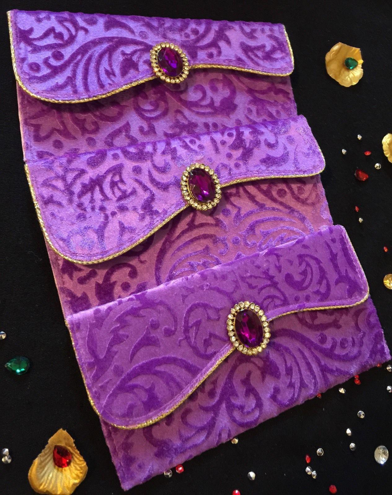 Velvet MoneySalamiShagun Wedding Cash Gift Envelope Indian Wedding