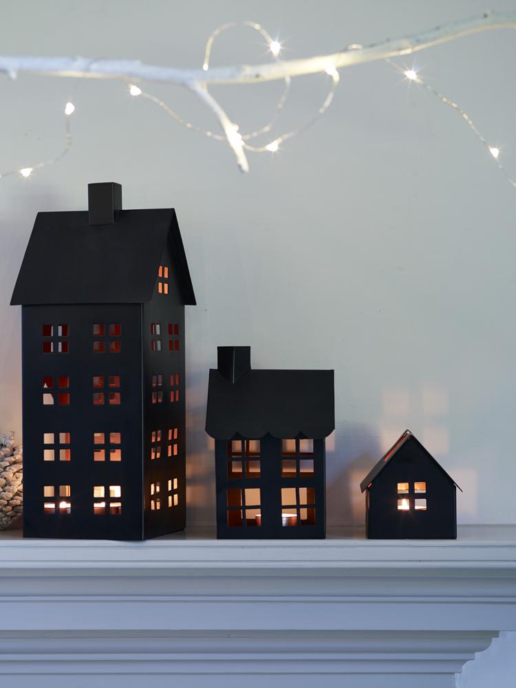 Three House Tea Light Lanterns from Cox & Cox