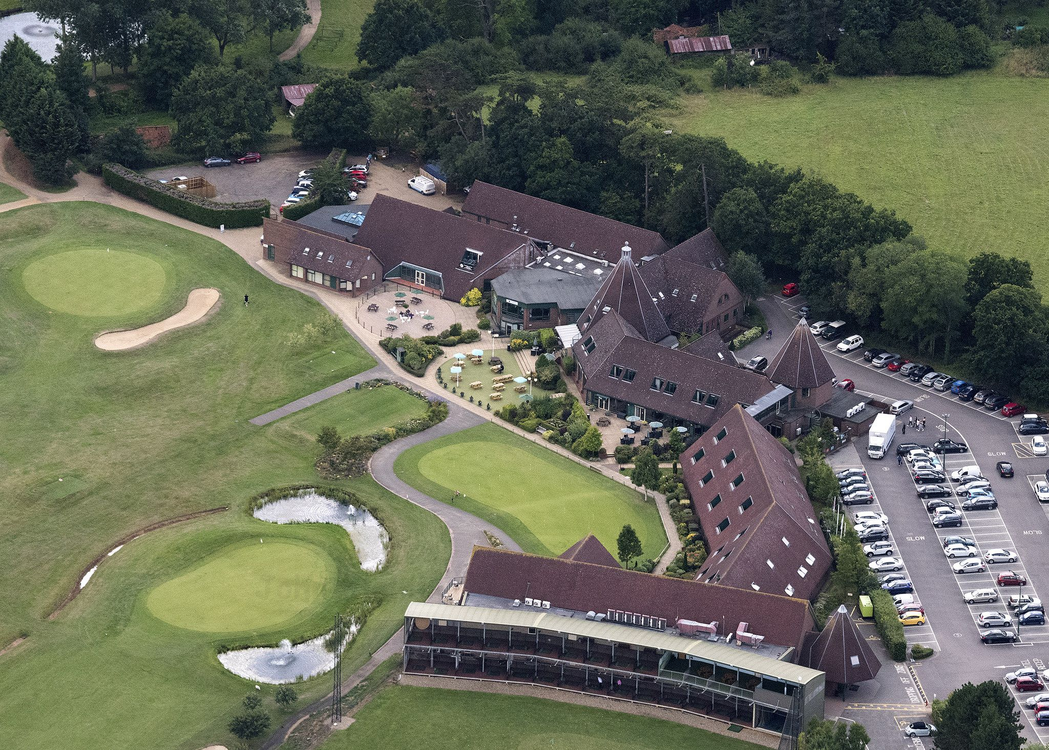 Ufford Park Golf Course In Suffolk Uk Aerial Image Golf Courses Golf Suffolk