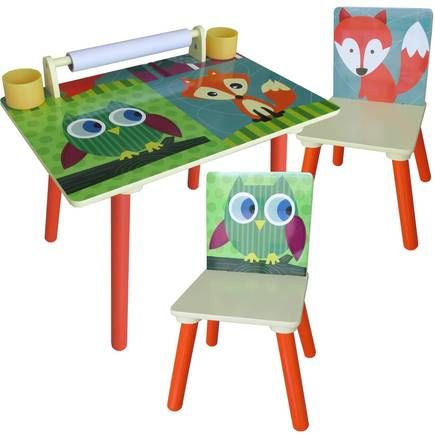 Owl And Fox Kids Table And Chairs Bundle Kids Table