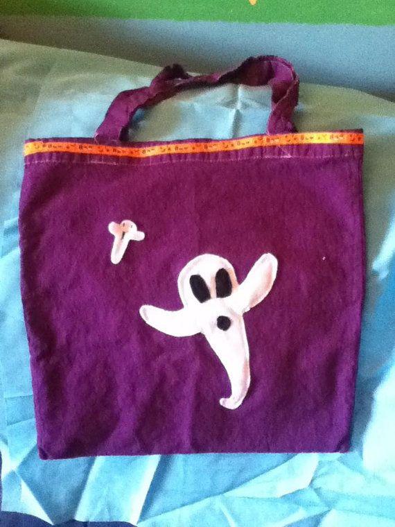 Halloween trick or treat bag by bethsoneofakindbags on Etsy, £5.00
